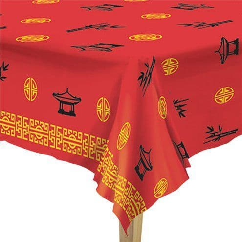 Tablecloth: Chinese New Year Plastic Tablecover - 1.37m x 2.74m