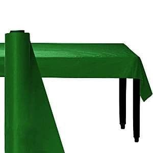 Tablecloth: Festive Green Party Plastic Table Roll 30m (100ft) (each)