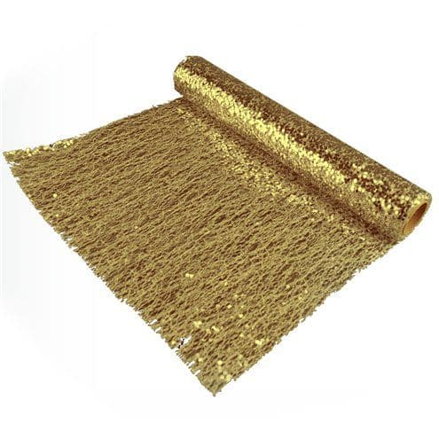 Tablecloth: Gold Sequin Mesh Table Runner