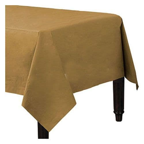 Tablecloth: Gold Tablecover - 3ply Paper - 1.4m x 2.8m