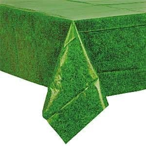 Tablecloth: Grass Coloured Rectangular Plastic Tablecover