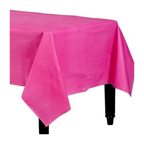 Tablecloth: Hot Pink Plastic Tablecover - 1.4m x 2.8m
