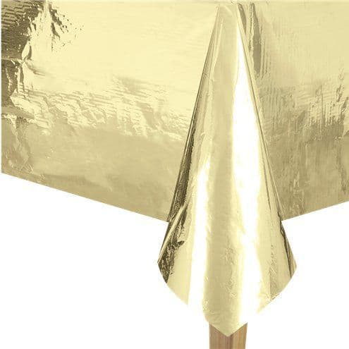 Tablecloth: Metallic Gold Foil Tablecover - 1.4m x 2.7m