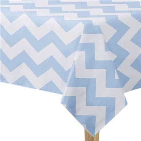 Tablecloth; Pattern Works Blue Chevron Tablecover - 1.8m
