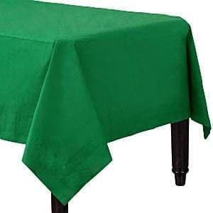Tablecloth: Plain Partyware Green Tablecover x2pk.
