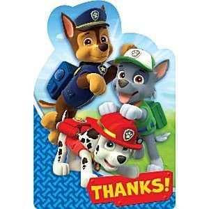Thank You: Paw Patrol Party Thank You Cards (8pk)