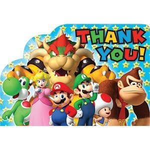 Thankyou Cards: Super Mario Brothers Party Thank You Cards (8pk)