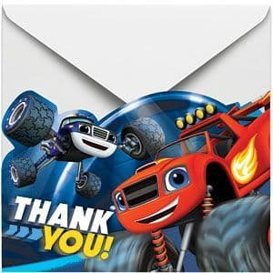Thankyous: Blaze and the Monster Machines Thank You Cards and Envelopes (8pk)