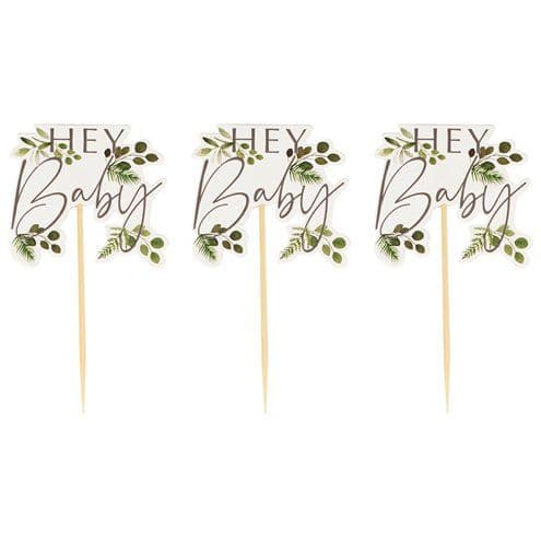 Toppers: Botanical Baby Cupcake Toppers x12pk