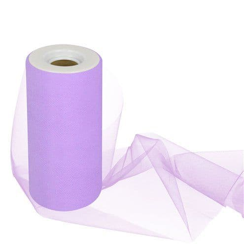 Tulle: Lilac Tulle Roll - 15cm x 25m