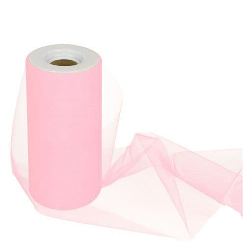 Tulle: Pink Tulle Roll - 15cm x 25m