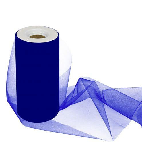 Tulle: Royal Blue Tulle Roll - 15cm x 25m