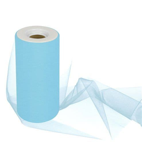 Tulle: Turquoise Tulle Roll - 15cm x 25m