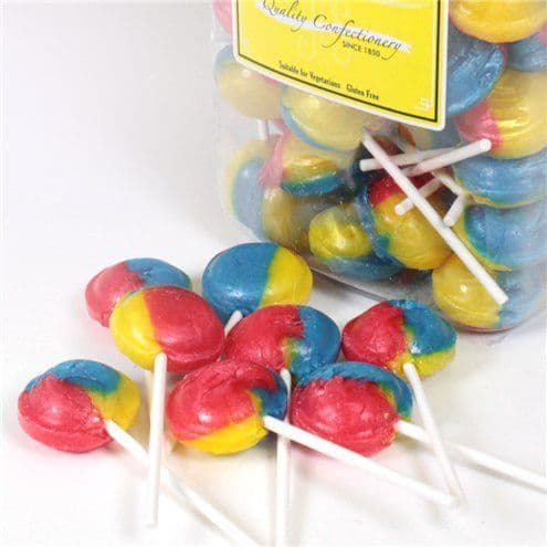 Tutti Frutti Lollipops - 90pk  Gluten Free - Halal- Vegetarian Friendly