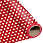 Wrap: Red Polka Dot Wrapping Paper - 1.5m Roll (each)