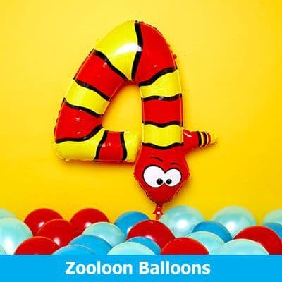 Zooloon Animal Number Balloons Inflated