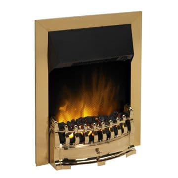 Dimplex Stamford 2kW Traditional Inset Manual Control Optiflame in Brass
