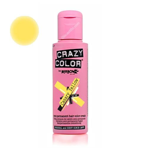 Oferta Crazy Color Tinte FantasÍa Coloración Semipermanente-  49 Canary Yellow 100 ml