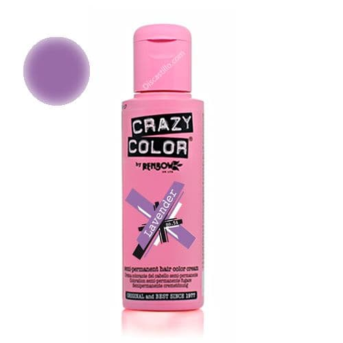 Oferta Crazy Color Tinte FantasÍa Semipermanente- 54 Lavander 100 ml
