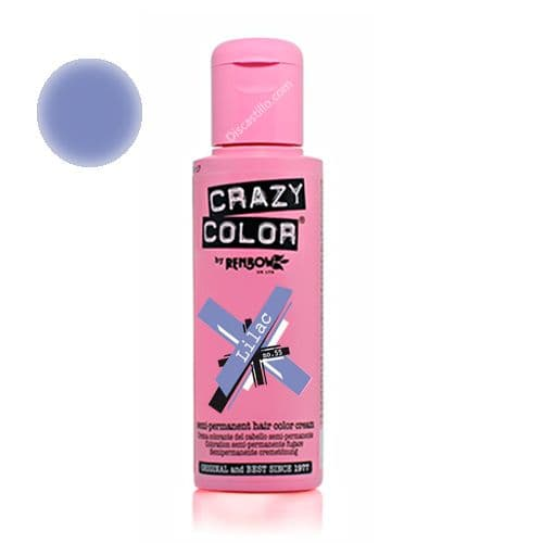 Oferta Crazy Color Tinte Fantasía Semipermanente- 55 Lilac 100 ml