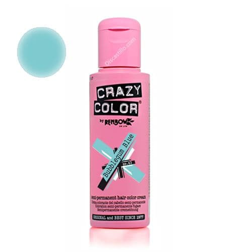 Oferta Crazy Color Tinte Fantasía Semipermanente- 63 bubblegum-blue 100 ml