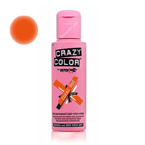 Oferta Crazy Color Tinte Fantasia Semipermanente 57- Coral Red 100 ml