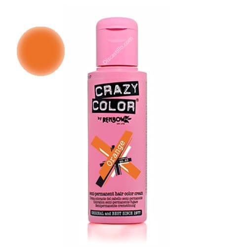 Oferta Crazy Color Tinte Fantasia Semipermanente- 60 Orange 100 ml