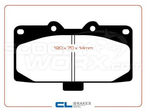 Carbone Lorraine Brake Pads RC8 (Track Pads)