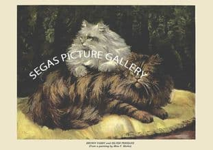 BROWN TABBY and SILVER PERSIANS (From a painting by Miss F. Marks)