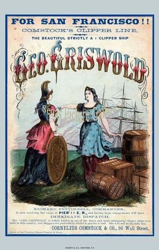 Clipper Ship - Geo. Griswold (Advert)
