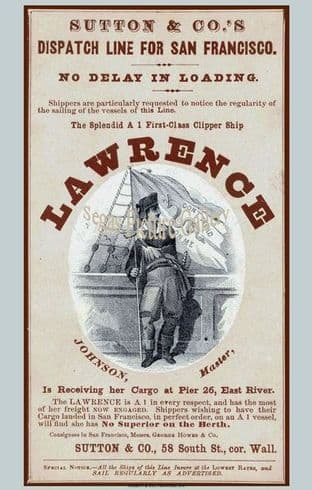 Clipper Ship - Lawrence (Advert)