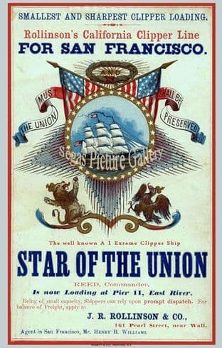 Clipper Ship - Star of the Union (Advert)