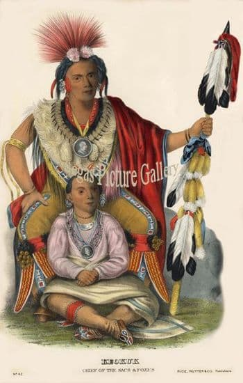 Indian Tribes of North America by Thomas McKenney & James Hall (1865-70)
