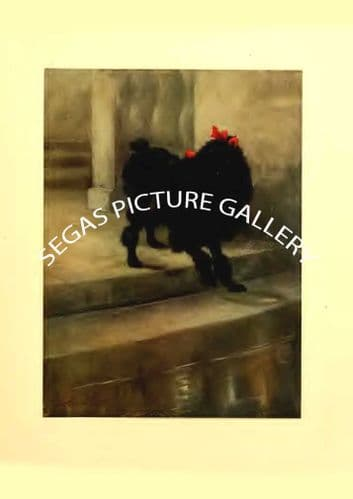 Fine art print of the MINIATURE POODLE by Maud Earl (1910)