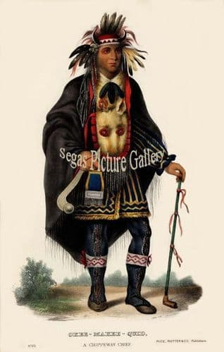 Okee-Makee-Quid, a Chippeway Chief