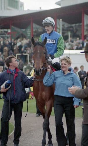 Racehorse  Our Vic with Jockey A P McCoy