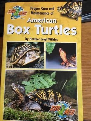 Zoo Med  Proper Care of American Box Turtles 20 page booklet FREE POSTAGE