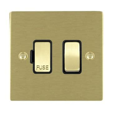 82SPSB/BL Hamilton Sheer Flat Plate 1 Gang 13a Switched Fused Spur Satin  Brass