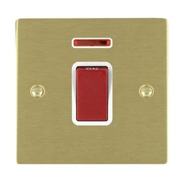 8245DPNWH Hamilton Sheer Flat Plate 45a DP Switch with Neon Satin  Brass