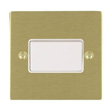 82TPWH Hamilton Sheer Flat Plate Fan Isolating Switch Satin  Brass