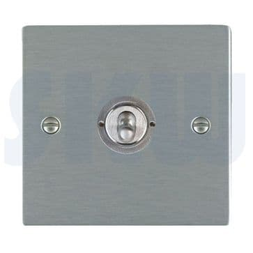 84S31 Hamilton Sheer Flat Plate Dolly Switch Intermediate Satin Stainless Steel