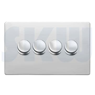 Hamilton Sheer CFX Dimmer 4 Gang 300w Polished Chrome