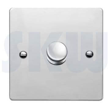 87P1X400 Hamilton Sheer Flat Plate Dimmer 1 Gang 2 Way 400w Polished Chrome