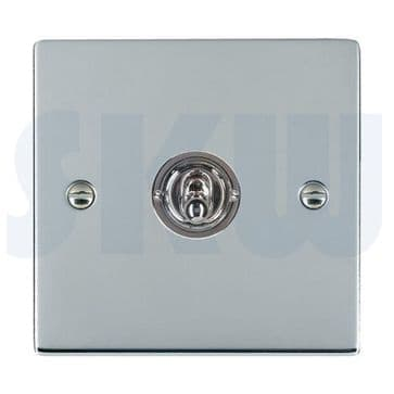 87S21 Hamilton Sheer Flat Plate Dolly Switch 1 Gang 2 Way Polished Chrome