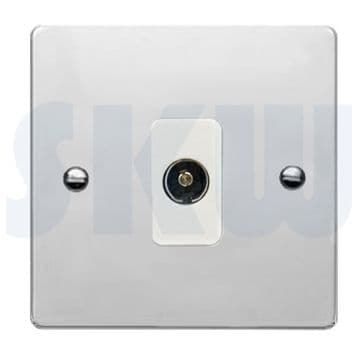 87TVWH Hamilton Sheer Flat Plate TV Socket Polished Chrome