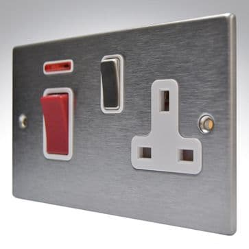Hartland Stainless Steel 45a Switch & Socket