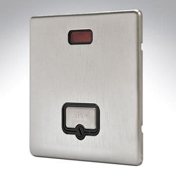 MK Aspect Connection Unit Unswitched Brushed Stainless Steel