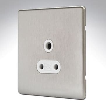 MK Aspect Lighting Socket 5amp Brushed Stainless Steel