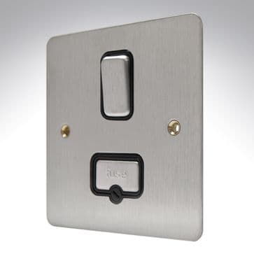 K14941 BSS B MK Edge Brushed Stainless Steel Flat Plate Spur Switched