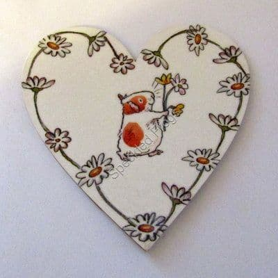 'Daisy'.  Chain Magnetic Heart Plaque